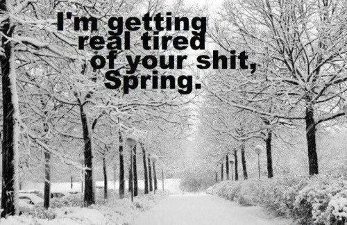 про погоду, про весну, зима пришла