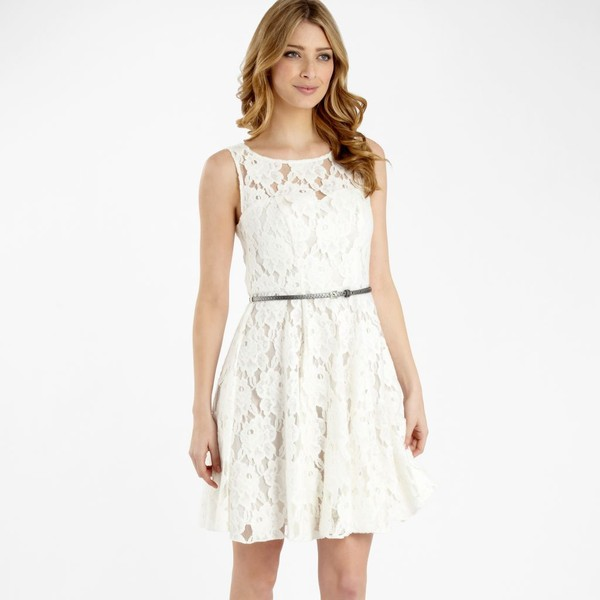 White lace summer dress - Red Herring - Polyvore by Shanice Wilms ...
