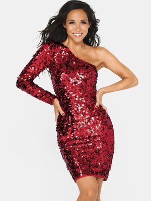 one shoulder dress sequin « Bella Forte Glass Studio