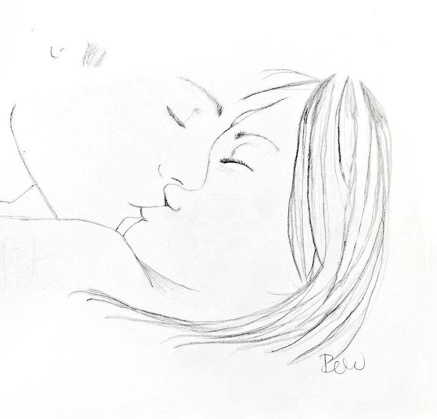 Kissing Drawing Kissing Couple Drawing
