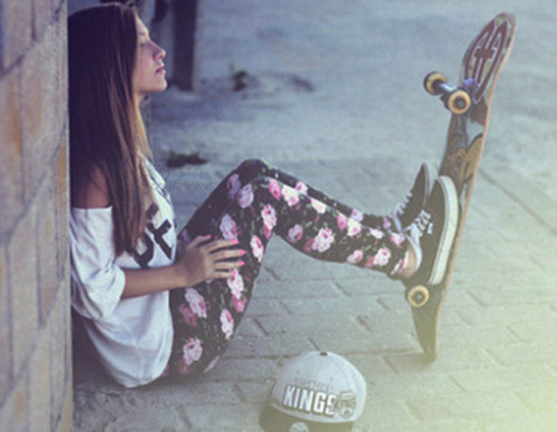 pants, cute, beautiful, skate, girl, summer, shirt, vans, shoes, hat - Wheretoget