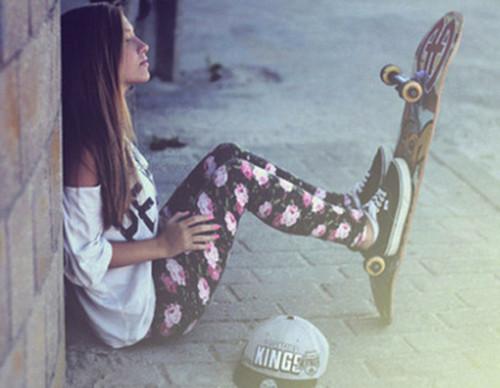 pants, cute, beautiful, skate, girl, summer, shirt, vans, shoes, hat - Wheretoget