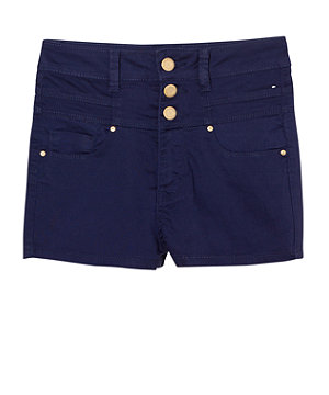 Dark Blue High Waisted Shorts - The Else