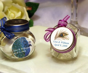 personalized favor jars unique wedding favors