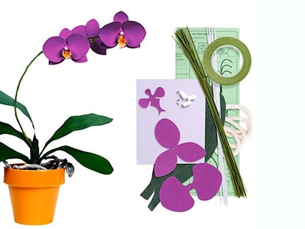 Орхидея своими руками из бумаги в горшке своими руками