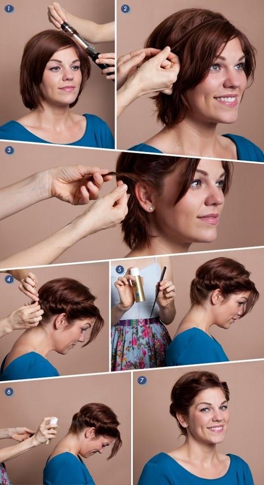 Причёски на короткие волосы в домашних условиях фото своими руками