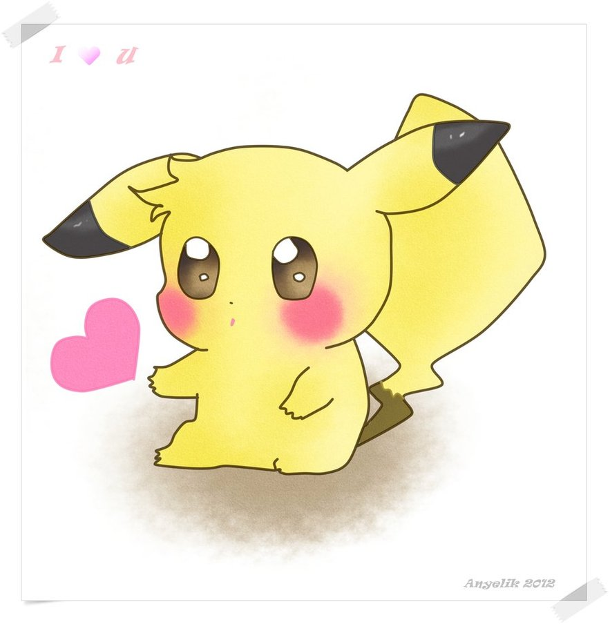 Pika cute o o we heart it kawaii cute and pikachu - Pikachu kawaii ...