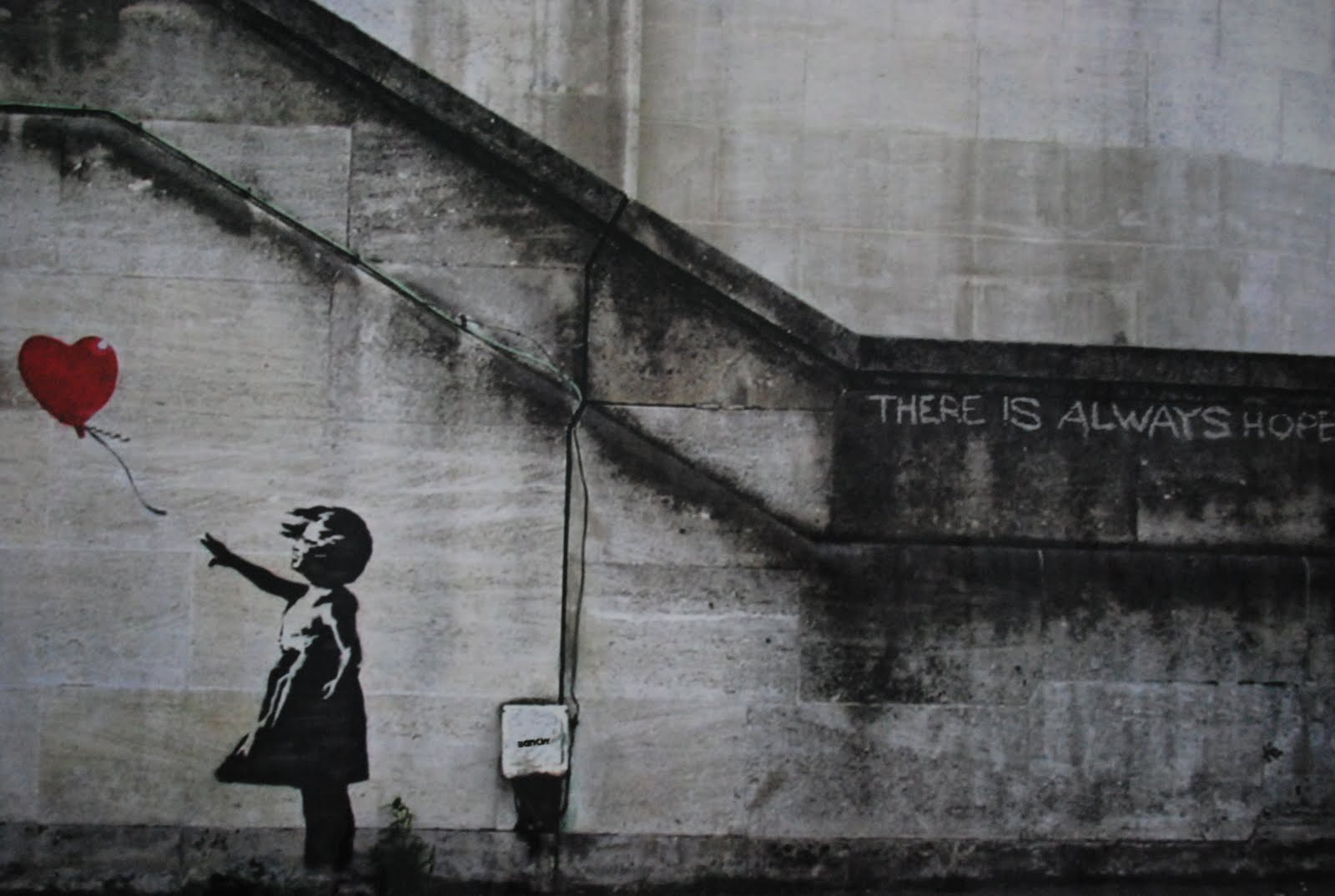 there is always hope, Banksy | We Heart It | hope