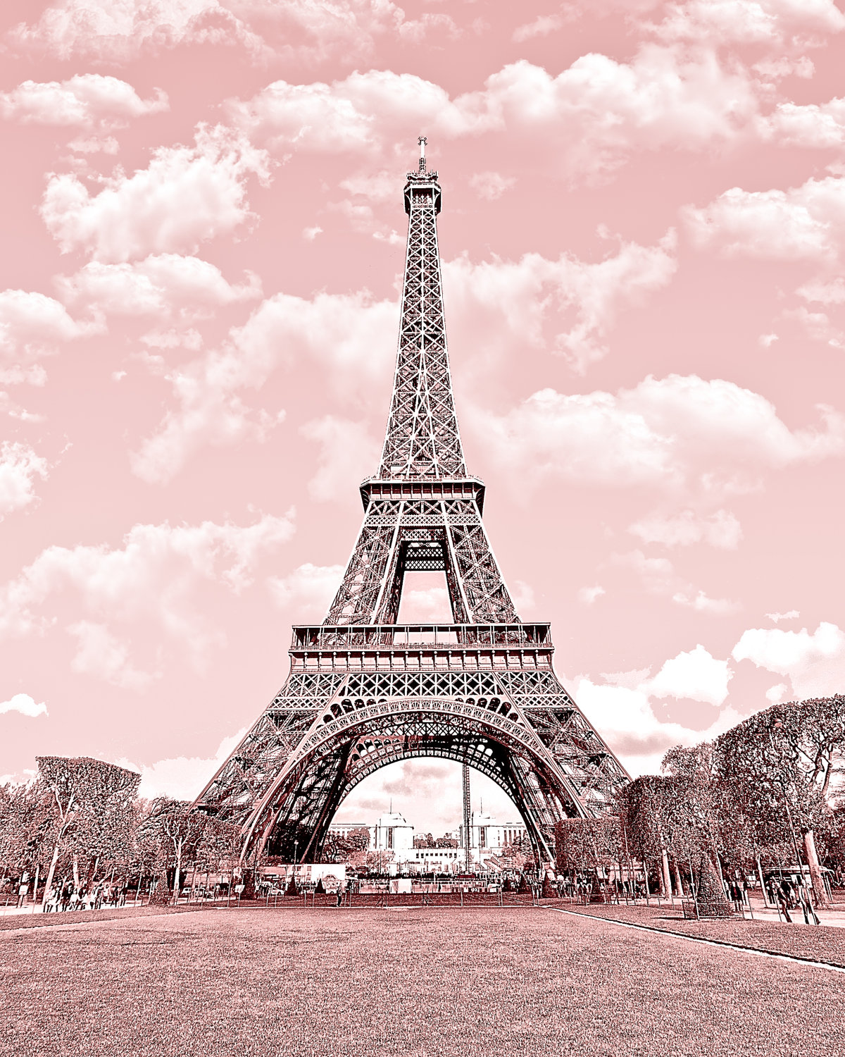 Group of Eiffel Tower In Pink