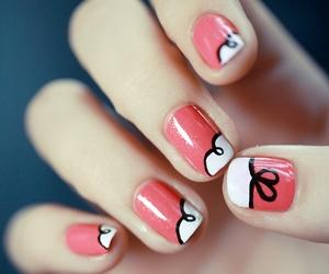 nail art#pink#white