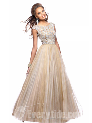 Short Sleeve Prom Dress - Ocodea.com