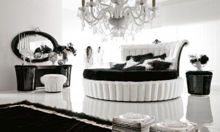 luxurious black _ white bedroom design interior desig - Black And White Interior Design Bedroom
