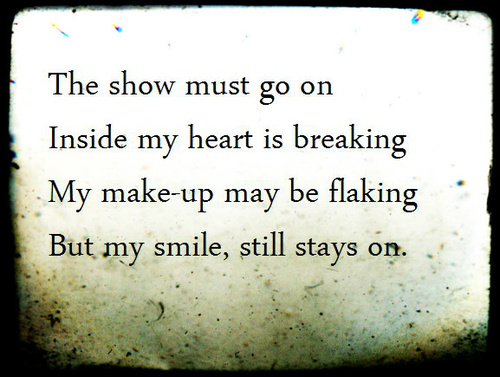 (3) The Show Must Go On