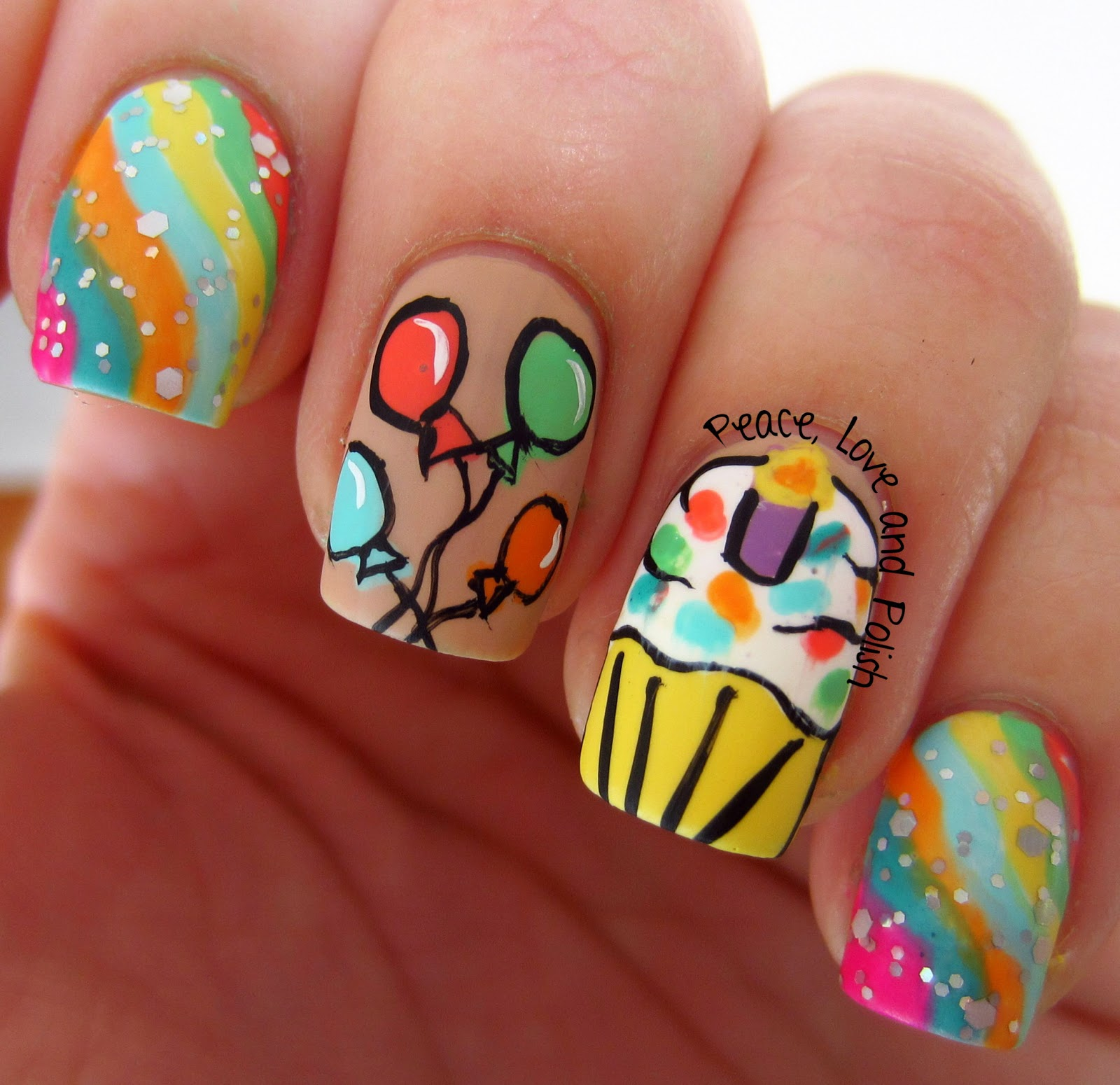 Nail art birthday 15 ideas