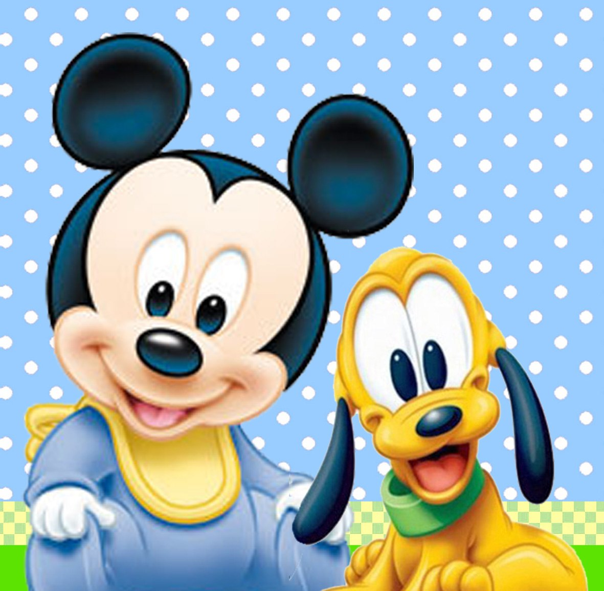 Mickey mouse and pluto...