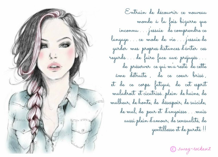 Trop swagg ce poeme je kiffffffff we heart it dessin and swag - Dessin swag fille ...