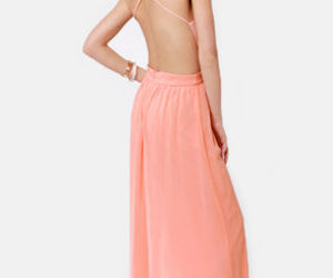 pink dress open-back long