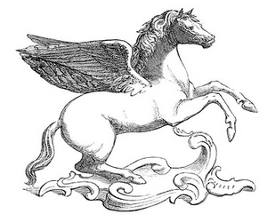 *The Graphics Fairy LLC*: Vintage Clip Art - Beautiful Winged Horse