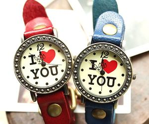 Retro Romantic I Love You Watches-red on Luulla