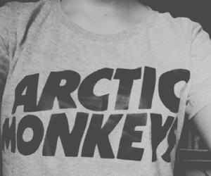 arctic monkeys, black and white, follow me, hipster - inspiring picture on Favim.com