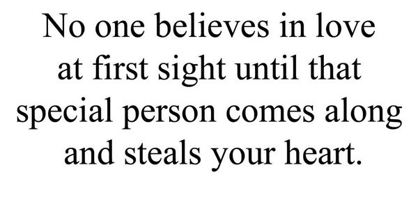 No One Believes In Love At First Sight Until That Special