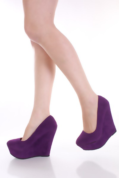 purple wedges heels - Penelusuran Google | We Heart It | beautiful ...