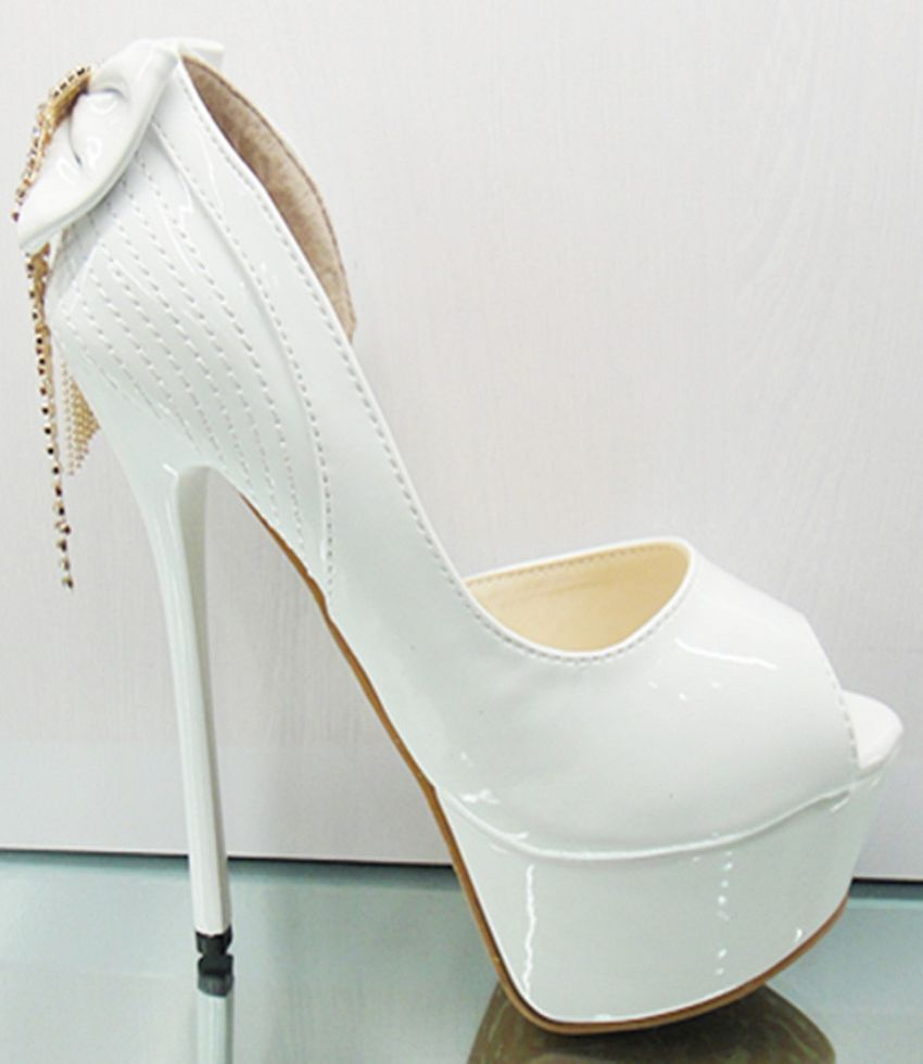 High Heel White Shoes