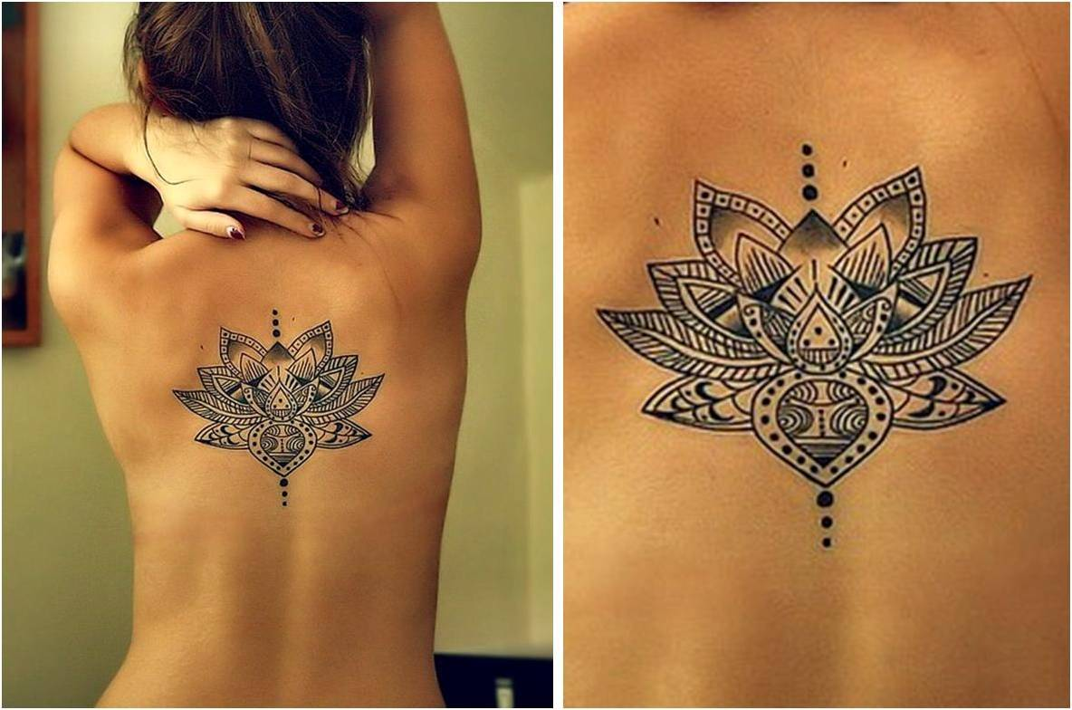 Lotus Flower Tattoo On Back8