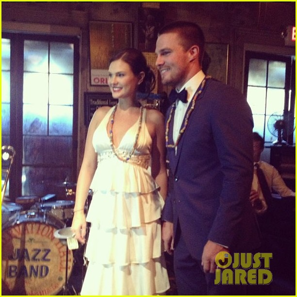 Stephen Amell & Cassandra Jean Have Second Wedding ...