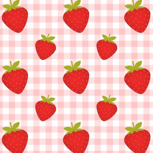 seamless strawberry pattern 187 background labs we heart it
