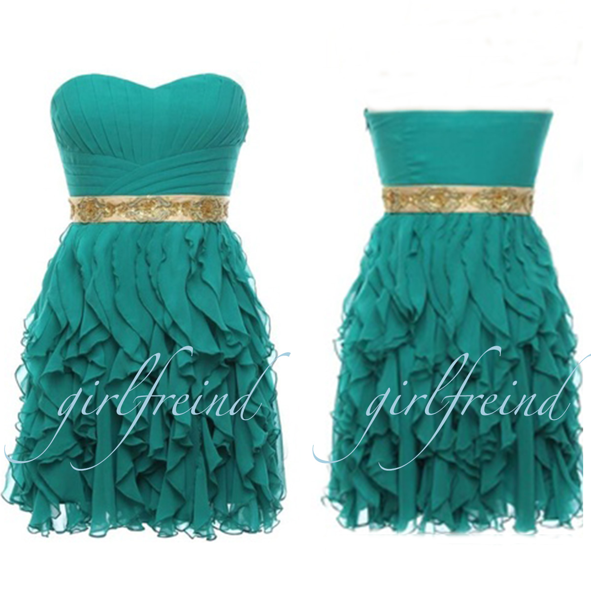 Cute lace stapless pleated prom dress bridesmaid dress