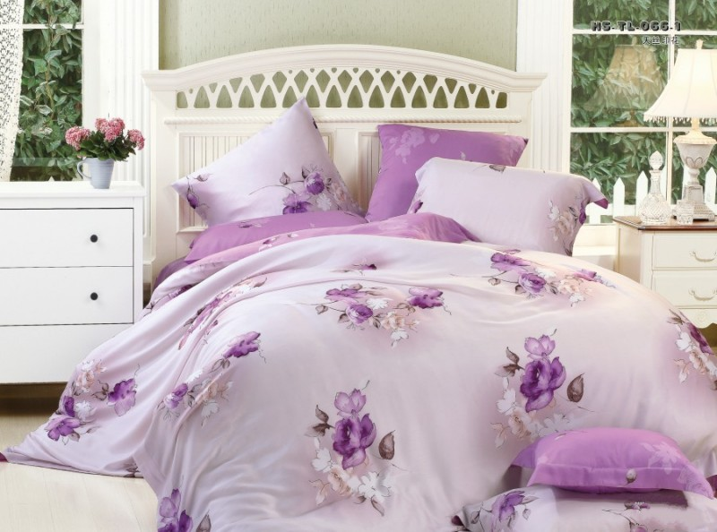 Group of: 4-piece luxury bedding set Flower Words SETS070 | We ...