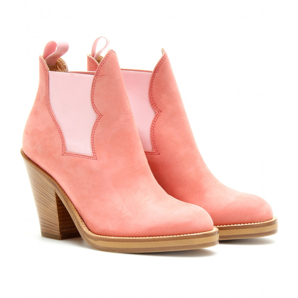 Pink Suede Ankle Boots Suede Ankle Boots Luxury