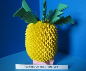 3d origami pineapple
