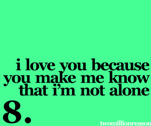 i love you because