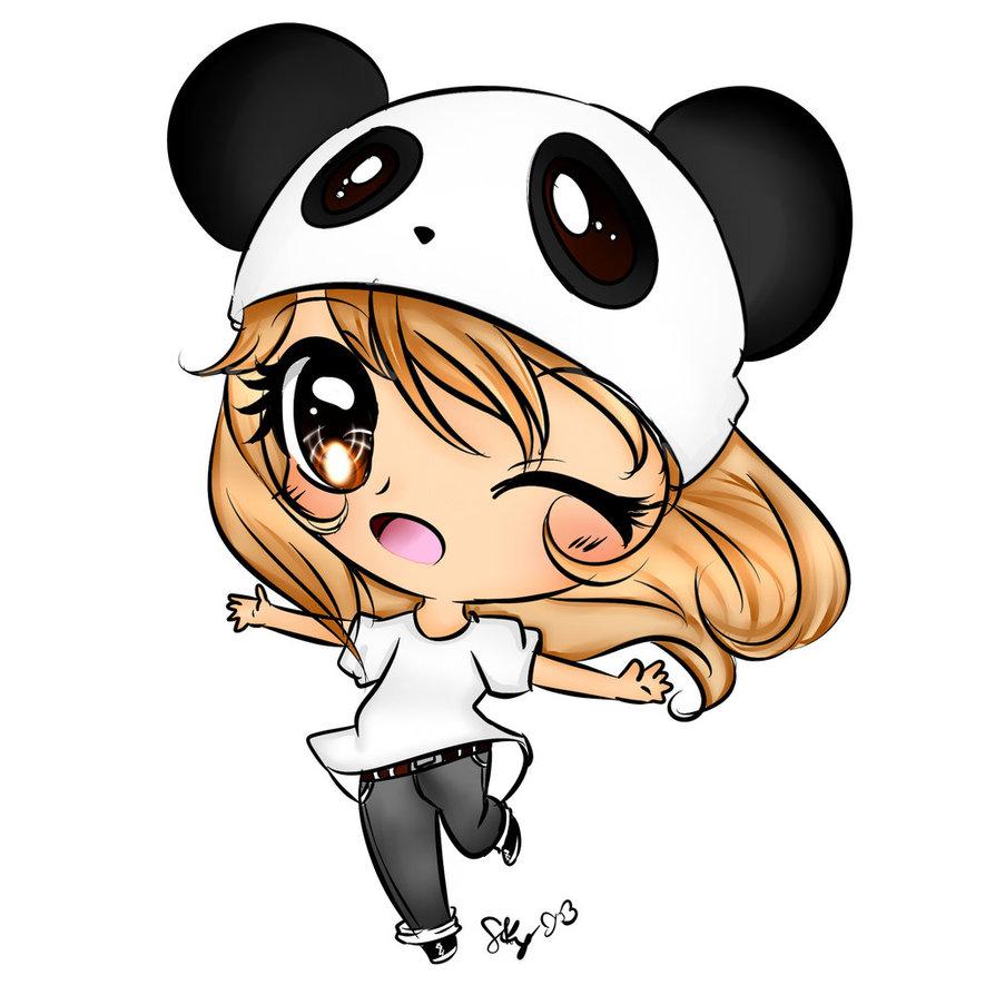 Anime Girl Chibi: Panda Chibi!! :D Soo Kawaii!