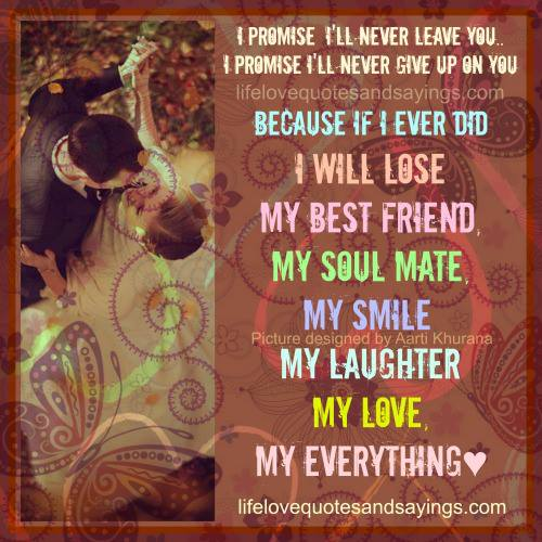 Never Leave You Tamil Quote: I Promise I'll Never Leave You..