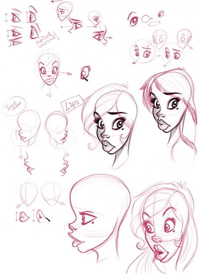How to Draw & Illustration Female Cartoon Characters Step ...  Girl Cartoon Characters To Draw