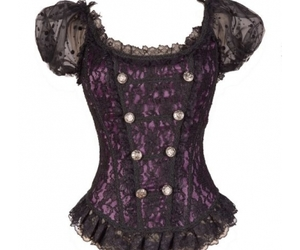 purple gothic top