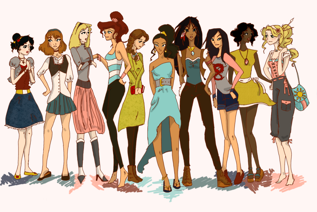 disney princess drawing in own clothes google search