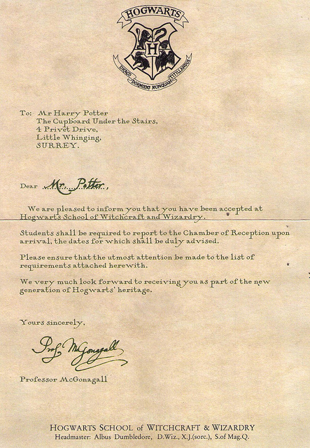 graphic regarding Printable Hogwarts Letter identified as 20 Desirable Hogwarts Level of popularity Letter Envelope Template