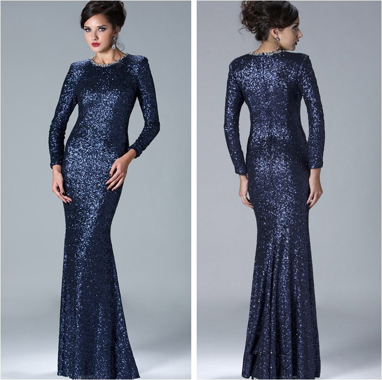 Collection Long Dresses With Sleeves Pictures - Reikian