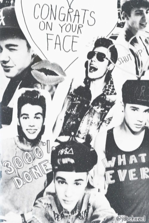 Justin Bieber Collage Tumblr Black And White | www ...