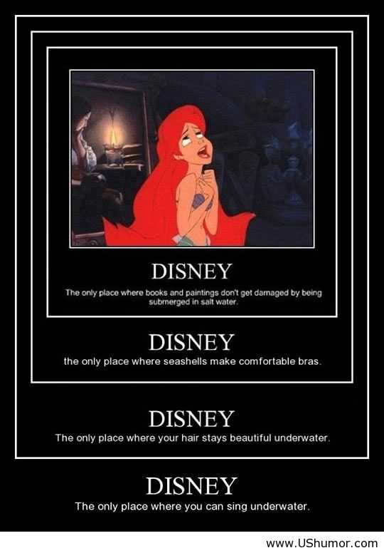 Disney funny - Google Search | We Heart It | disney, ariel ...