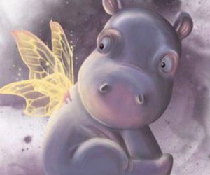 cute fary hippo