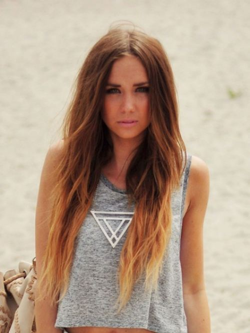 ombre hair!!! by Νικόλ Drεαmεr♥   We Heart It