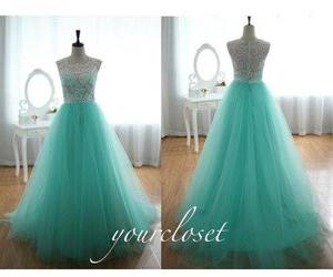 Ageless Fashion - blue green prom dress | via Facebook