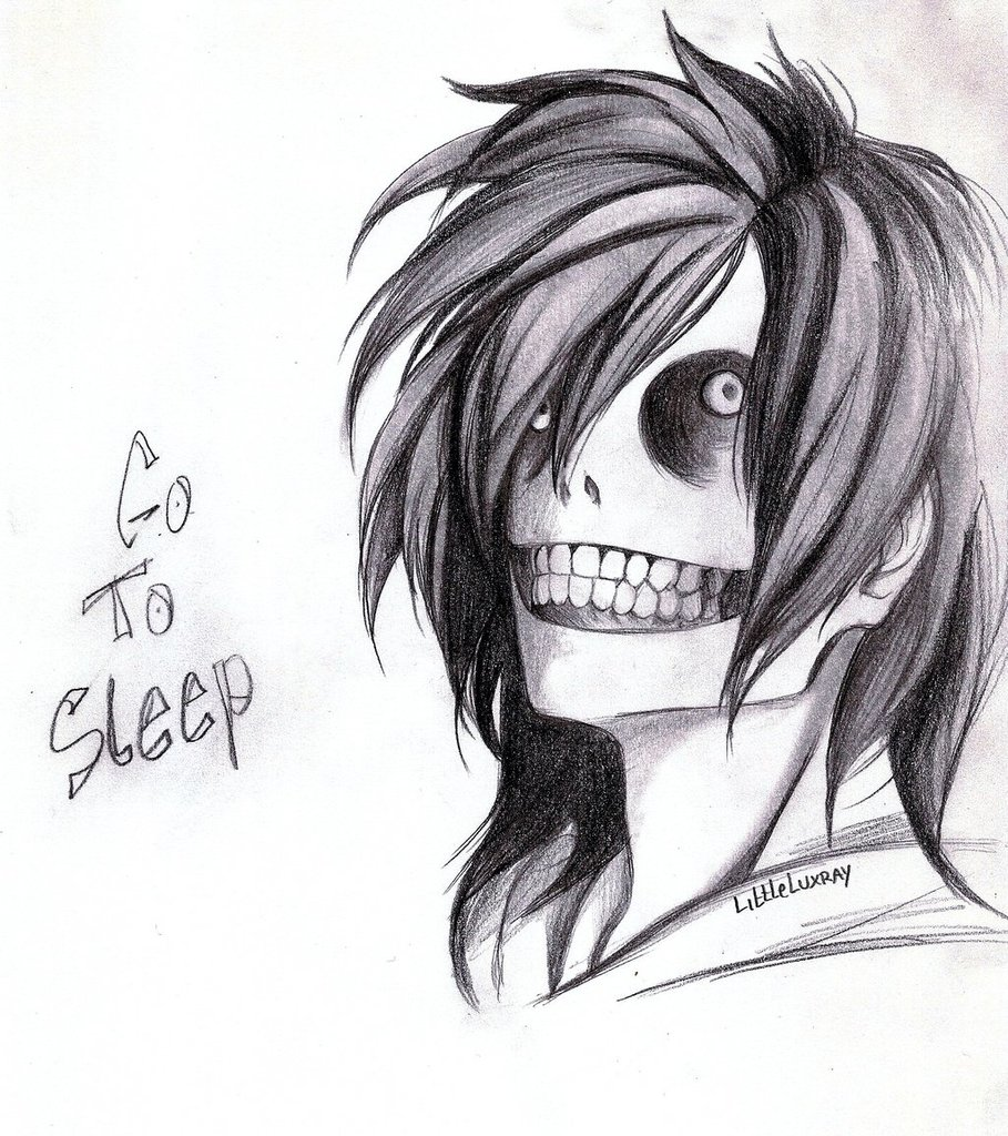 Go to sleep bitch! | We Heart It | jeff the killer and ...
