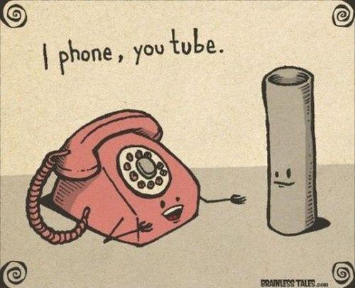 I phone...