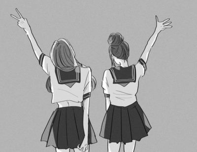 Better be with a sister than with a fake friend we heart - Black and white anime pictures ...